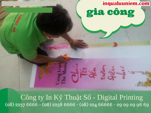 Dịch vụ cờ phướn treo đường với sản phẩm in ấn từ in hiflex, in trên vải từ Công ty In Kỹ Thuật Số - Digital Printing