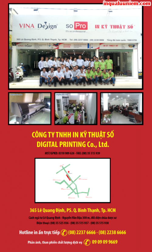 Liên hệ Công ty In Kỹ Thuật Số - Digital Printing