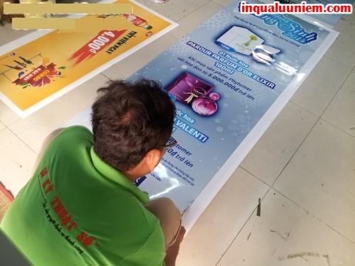 In poster từ chất liệu PP cán màng bóng thực hiện in ấn nhanh tại Công ty In Kỹ Thuật Số - Digital Printing