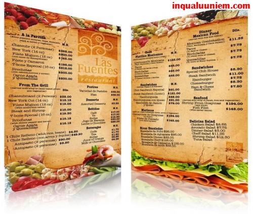 Những mẫu in thực đơn cho đặc sản ngon nhà hàng - 1